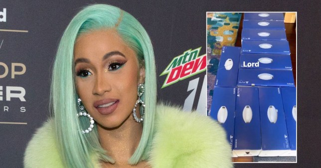 Cardi B with her PS5s