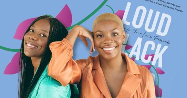 Elizabeth Uviebinené  and Yomi Adegoke  with their book, loud black girls