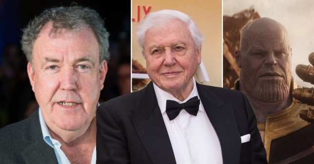 Jeremy Clarkson, David Attenborough and Thanos