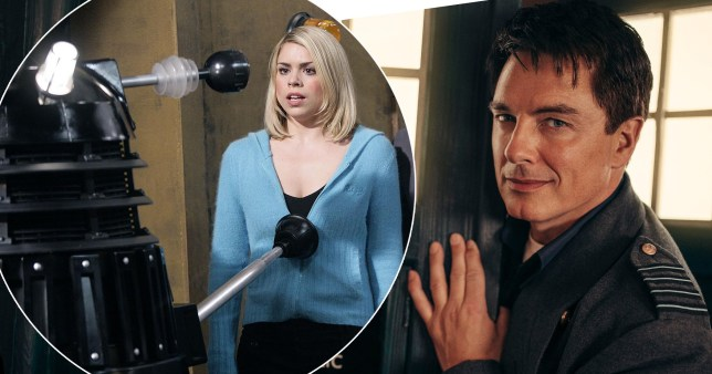 Billie Piper and John Barrowman in Doctor Who