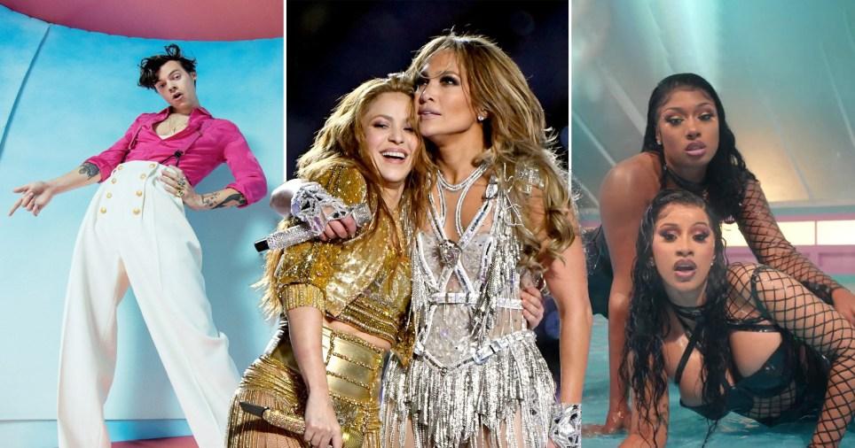 Music highlights from 2020 with Harry Styles, Jennifer Lopez, Shakira, Cardi B, Megan Thee Stallion