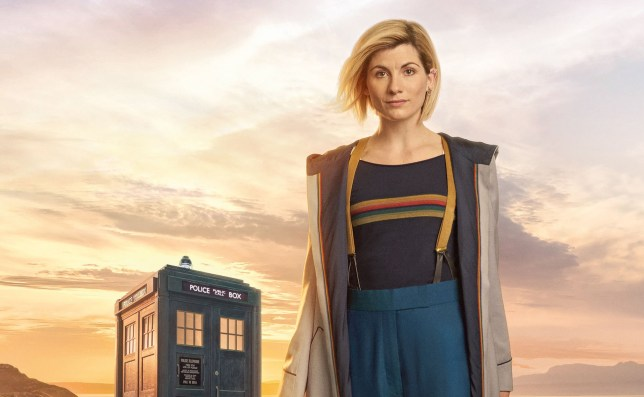 Jodie Whittaker in full costume as Doctor Who