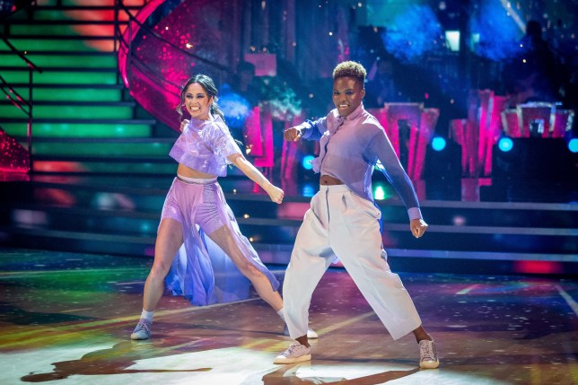 Katya Jones and Nicola Adams performing on Strictly Come Dancing