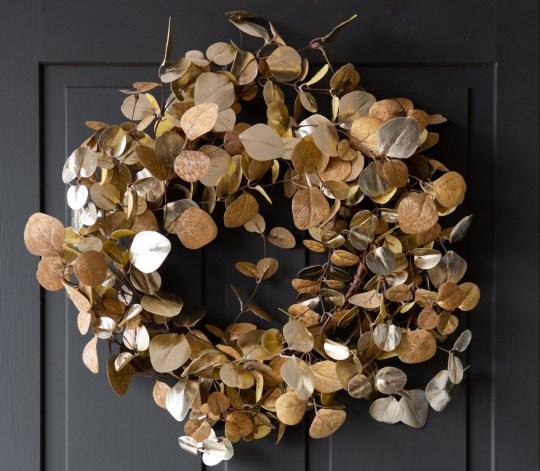 Fabulous gold eucalyptus style wreath