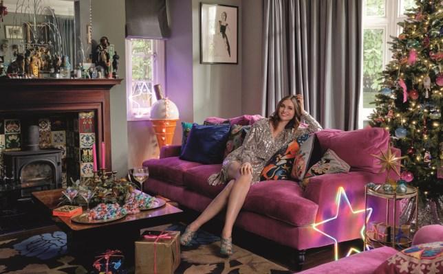 Sophie Ellis-Bextor Christmas home shoot - John Lewis
