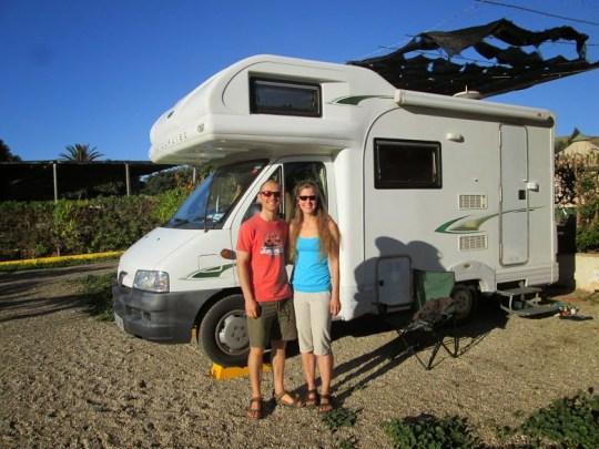 Esther Dingley and Dan Colegate with their camper van
