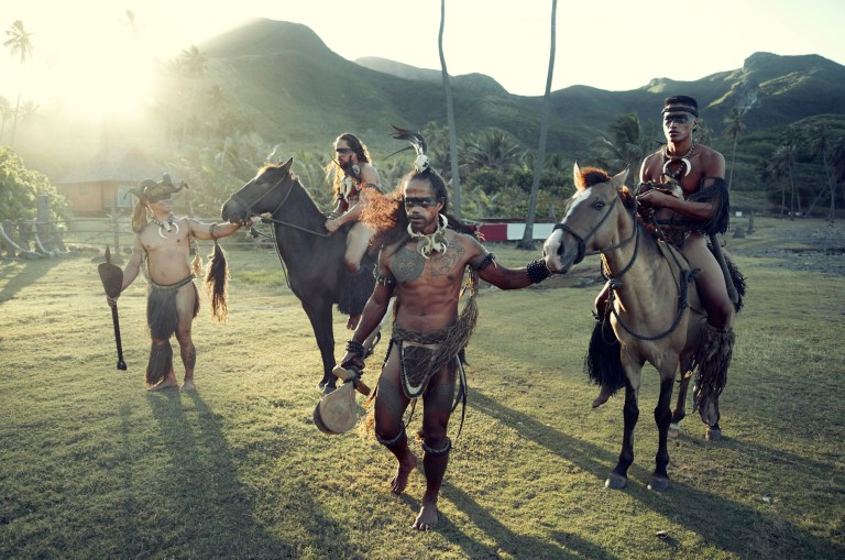 British photographer Jimmy Nelson went to the Marquesas Islands and photographed the indigenous people who live there.