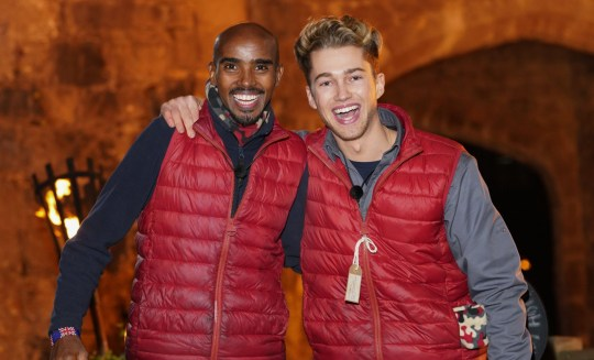 Sir Mo Farah and AJ Pritchard leave I'm A Celebrity