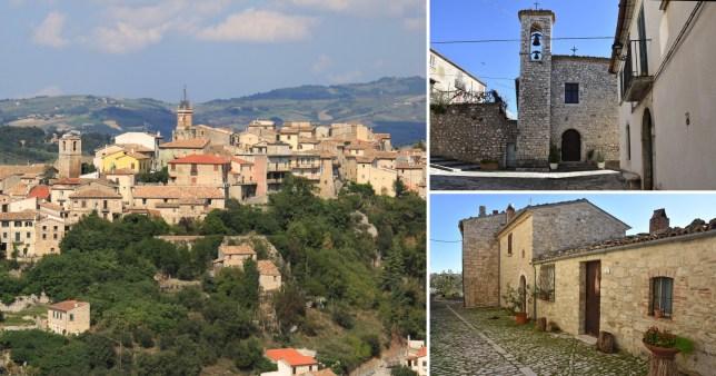 The Italian village of Castropignano