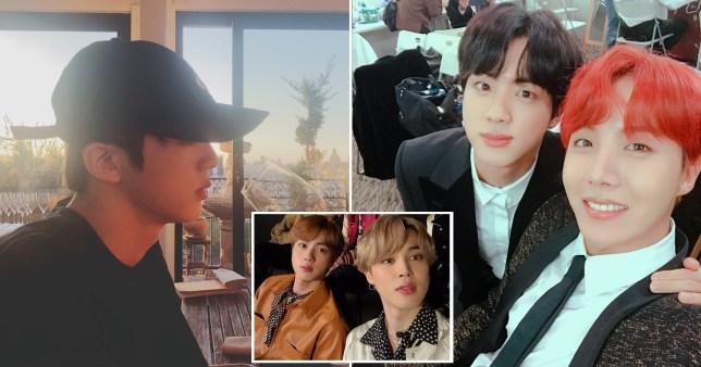 BTS stars take selfies