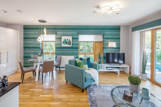 The living area of the showhome aparment at Central Square
