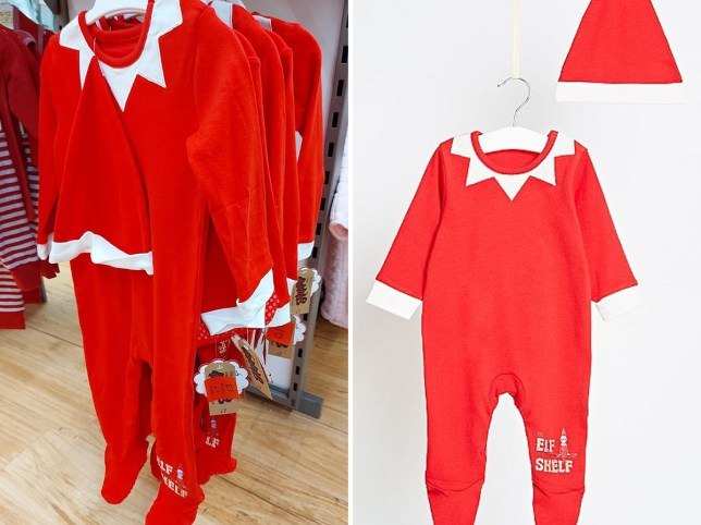 Asda is selling Elf on the Shelf style sleep suits for kids for just ??3 - with a hat