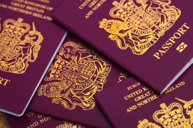 London, England - August 30, 2016: An editorial stock photo of a collection of British Passports. Photographed isolated on a white background. Photographed using the Canon EOS 5DSR