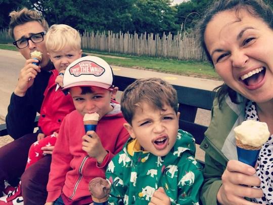 The Fletcher Family - Tom, Max, BUzz, Buddy and Giovanna