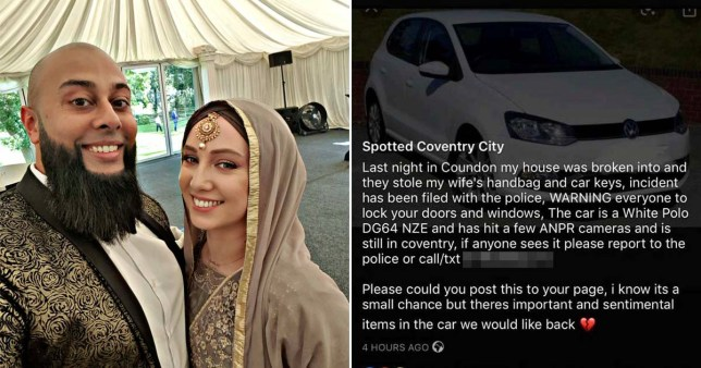 A martial arts teacher, Imran Farooq, said he channeled his Liam Neeson from Taken when he spent two-and-a-half days tracking down the man who stole his pregnant wife's car.