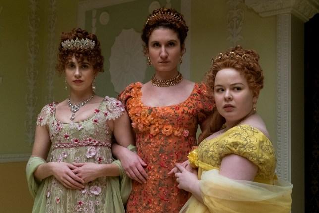Bridgerton Netflix - the featherington sisters