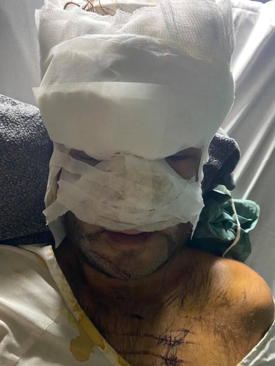 Danny Round, 32 ans, à l'hôpital après l'accident