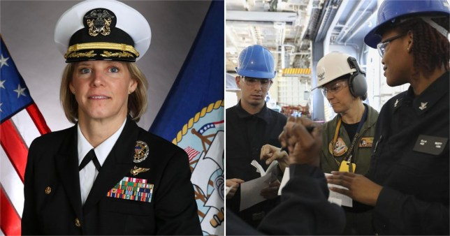 A woman has been selected to command a nuclear-powered aircraft carrier for the first time in U.S. Navy history