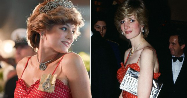 Emma Corrin in The Crown and Princess Diana