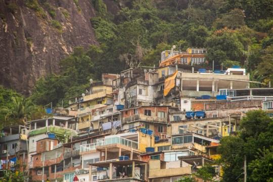 Favela in Rio de Janeiro Brazil.