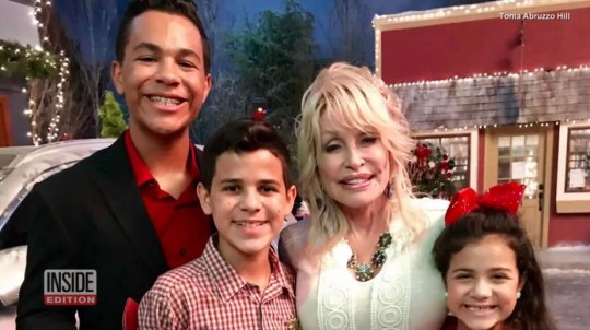 Dolly Parton and Christmas On The Square co-stars