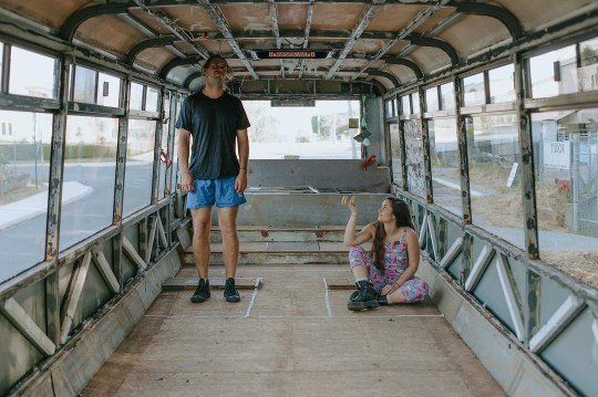 harry and hannah transforming their bus