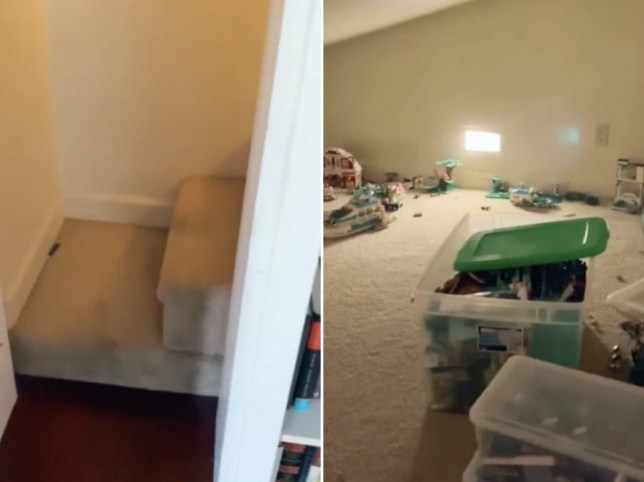Mum viewing house finds secret room behind bookshelf 'to hide from her kids'