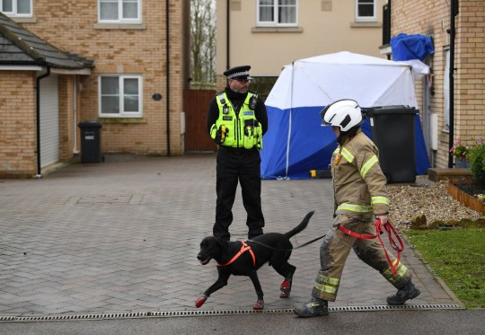 Emergency services at the scene of a house fire on Buttercup Avenue, Eynesbury, Cambridgeshire, in which a three-year-old boy and a seven-year-old girl died. A 35-year-old woman and a 46-year-old were also injured in the fire at the three-storey house, which police believe broke out around 7am Thursday morning. PA Photo. Picture date: Friday December 11, 2020. See PA story POLICE Eynesbury. Photo credit should read: Joe Giddens/PA Wire