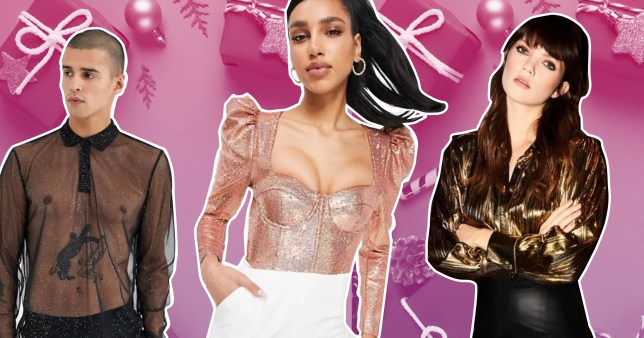 Chic tops for zoom Christmas parties