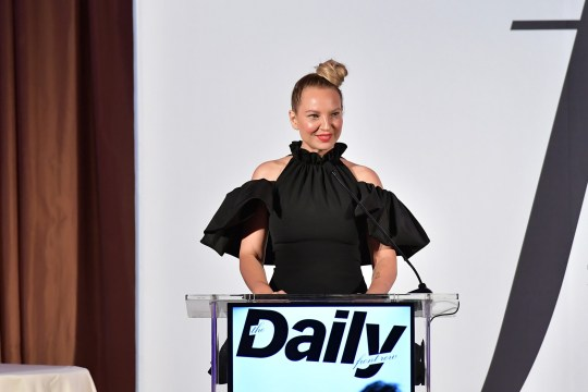 Sia speaks onstage duing The Daily Front Row Fashion LA Awards 2019