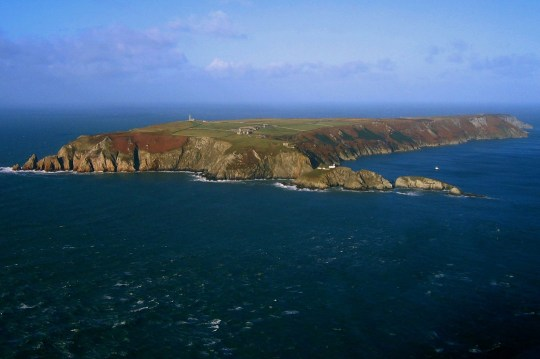 View of Lundy Island in the Bristol Channel.