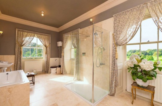 bathroom in county durham castle up for sale