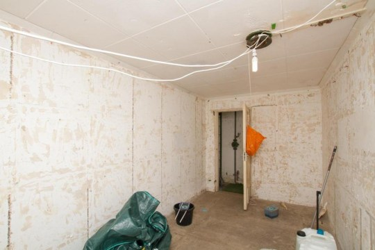 inside and old nuclear bunker
