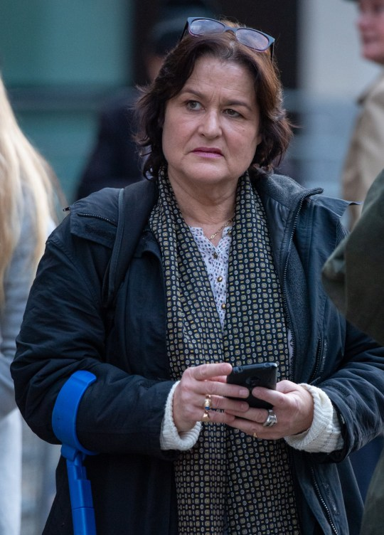 Amy Beth Dalla Mura leaves Westminster Magistrates' Court, London, where she is appearing on charges of harrassment against Anna Soubry.