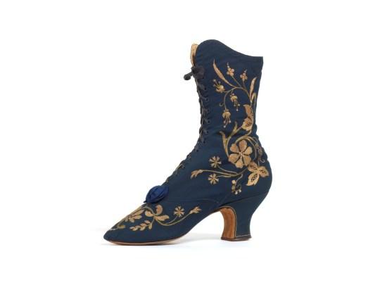 1880s silk shoe Shoephoria Bath Fashion Museum