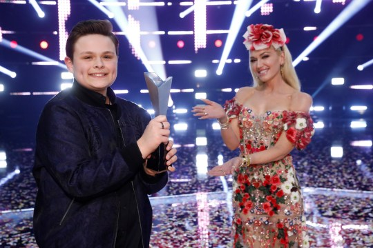 The Voice US winner Carter Rubin and his coach Gwen Stefani