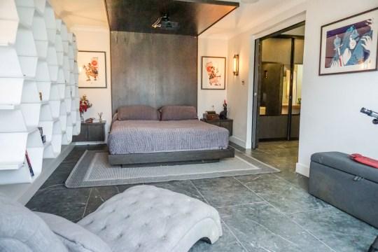 master bedroom in spanish style villa in sheffield
