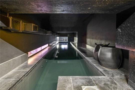 a narrow and dark indoor ppol