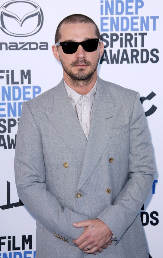 Mandatory Credit: Photo by CraSH/imageSPACE/REX (10551753ce) Shia LaBeouf 35th Annual Film Independent Spirit Awards, Arrivals, Los Angeles, USA - 08 Feb 2020