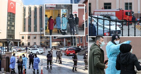 Nine dead after explosion at unit treating Covid patients in Turkey | Metro  News