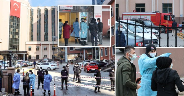 Picture: Getty A fire has killed nine people in an intensive care unit treating Covid-19 patients in southern Turkey after an oxygen cylinder exploded, state-run media reported.