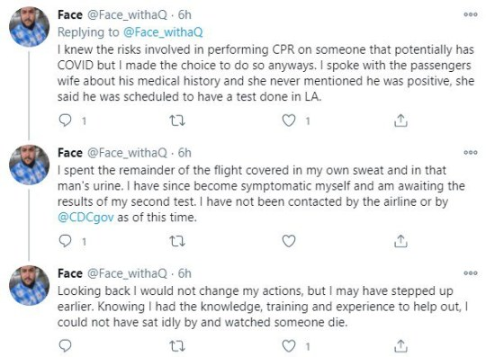 9071655 Photos from passengers onboard United fight from Orland to LA on which a man who had 'clear' COVID symptoms DIED show complete chaos among passengers as as airline works to track down the 179 passengers