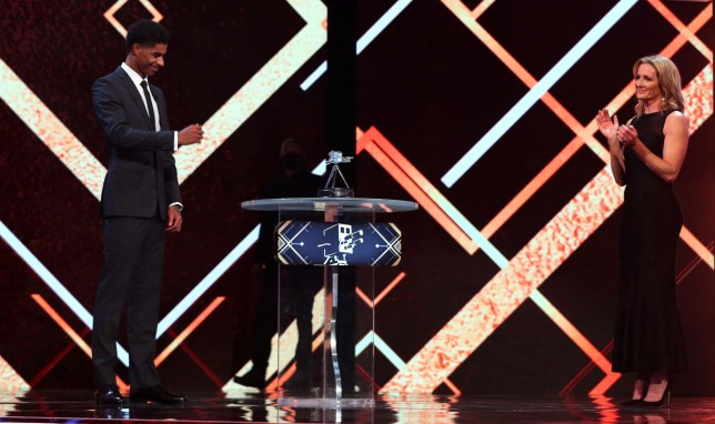 Marcus Rashford with his Panel Special award during the BBC Sports Personality of the Year 2020 at MediaCityUK, Salford. PA Photo. Picture date: Sunday December 20, 2019. See PA story SPORT Personality. Photo credit should read: Peter Bryne/PA Wire.