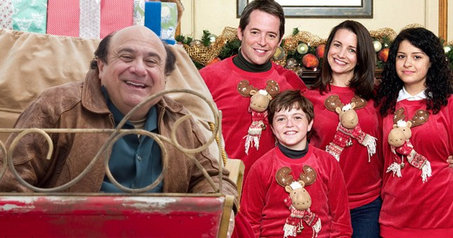 Danny Devito, Matthew Broderick, and Deck The Halls cast