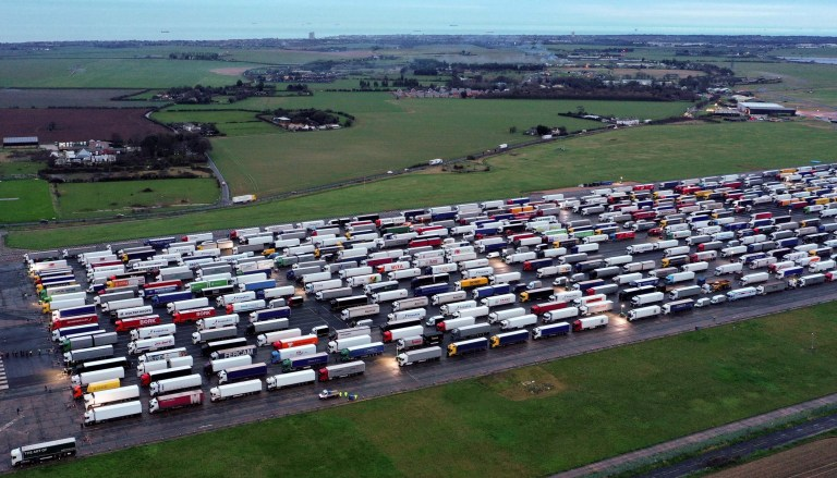 Greater than 4,000 lorries caught in UK as France refuses to open border