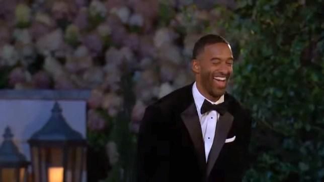 The Bachelor Matt James laughing at estate