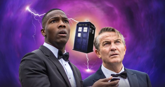 Bradley Walsh as Graham and Tosin Cole as Ryan in Doctor Who