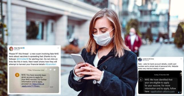 Covid vaccine scam text message