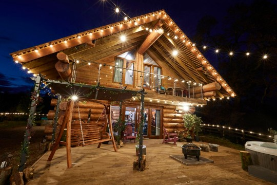 Outside shot of cabin in ITV2 show The Cabins