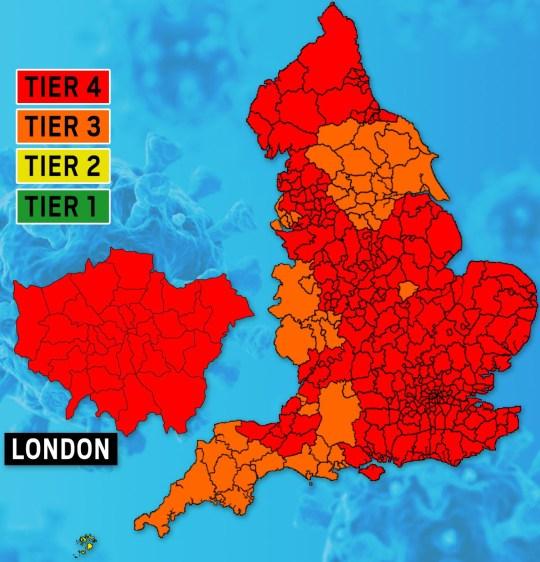 Tier Map 30-12-20 Metro.co.uk